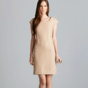 Anthropologie Beth Bowley Camel Cap Sleeve Dress